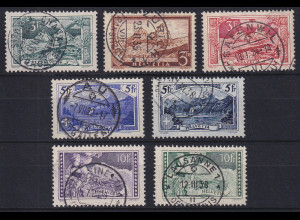 Schweiz 1914/31 Landschaften Mi.-Nr. 121-123, 142, 226-228 alle gestempelt