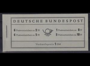 Bundesrepublik 1956 Heuss Markenheftchen Mi.-Nr. MH 3 postfrisch **