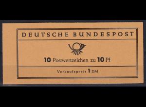 Bundesrepublik 1961 Markenheftchen Heuss Mi.-Nr. MH 6 e **