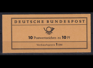 Bundesrepublik 1961 Heuss Markenheftchen Mi.-Nr. MH 6 e **