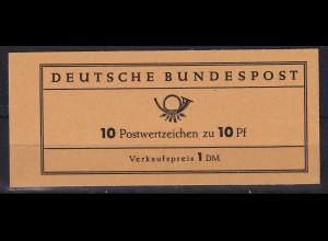 Bundesrepublik 1961 Markenheftchen Th. Heuss Mi.-Nr. MH 6 e **