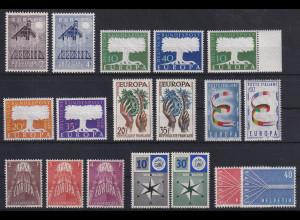 Europa-CEPT Jahrgang 1957, komplett postfrisch **