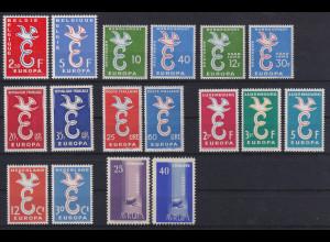 Europa-CEPT Jahrgang 1958, komplett postfrisch **