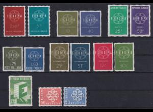 Europa-CEPT Jahrgang 1959, komplett postfrisch **