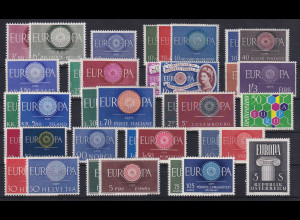 Europa-CEPT Jahrgang 1960, komplett postfrisch **