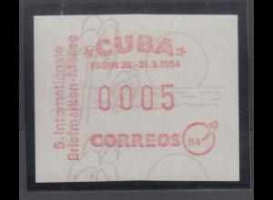 Cuba / Kuba Sonder-ATM Internationale Briefmarkenmesse Essen, Mi.-Nr. 1 **