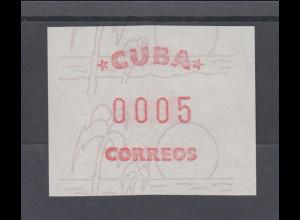 Cuba / Kuba ATM Freimarke Briefmarkenbörse Sindelfingen 1984, Mi.-Nr. 3 **