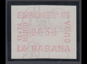 Cuba / Kuba Sonder-ATM ESPAMER `85 Havanna, Mi.-Nr. 4 **
