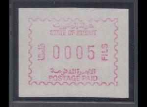 Kuwait Frama-ATM Ausgabe 1989, rotlila, Mi.-Nr. 1d **