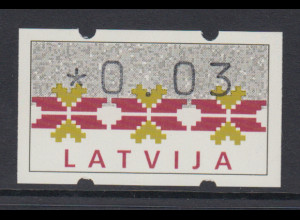 Lettland Klüssendorf-ATM Ausgabe 1994, Mi.-Nr. 1 **