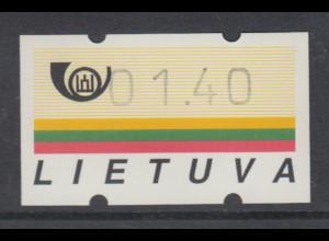 Litauen Klüssendorf-ATM Ausgabe 1995, Mi.-Nr. 1 **