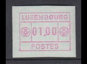 Luxemburg FRAMA-ATM 3.Ausgabe Inschrift POSTES gross , Mi.-Nr. 3 **