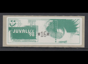 Luxemburg 1998 Monétel-Sonder-ATM Juvalux'98, Mi.-Nr. 5 **