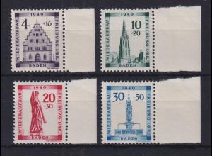 Französische Zone Baden Wiederaubau Freiburg 1949 kompletter Satz **