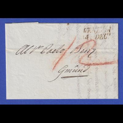 Österreich Brief mit Zweizeiler VENEZIA 1831