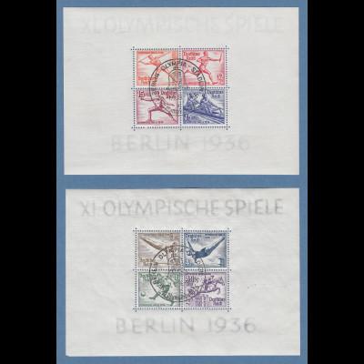 Deutsches Reich Olympiade 1936 beide Blocks Mi.-Nr. Block 5 und 6 mit So.-O