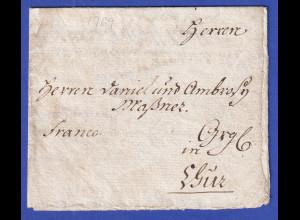 Bayern Geschäftsbrief aus Memmingen vom 13. März 1769