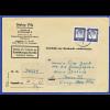 Berlin Bed. Deutsche 1DM Mi.-Nr. 212 waagerechtes Paar portoger. EF Zu-Urkunde