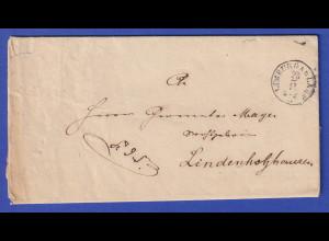 Hessen Dienstbrief mit Rundstempel LIMBURG A.D. LAHN vom Jahre 1869