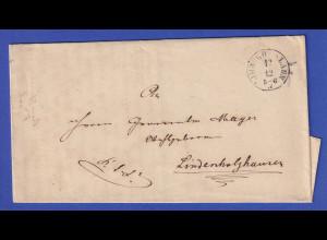 Hessen Dienstbrief mit Rundstempel LIMBURG A.D. LAHN aus dem Jahre 1869