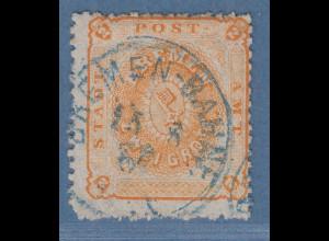 Bremen 1867 2 Grote gez. Mi.-Nr. 10a mit Einkreis-O, Befund Heitmann BPP