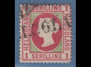 Helgoland 1871 1 Schilling Mi.-Nr. 7xa gestempelt, Befund Heitmann BPP