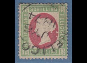 Helgoland 1873 1 1/2 Schilling Mi.-Nr. 10 gestempelt, Befund Heitmann BPP