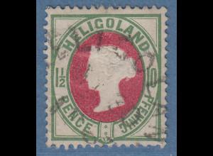 Helgoland 1885 10 Pfg. Mi.-Nr. 14 gute b-Farbe gestempelt, Befund Heitmann BPP