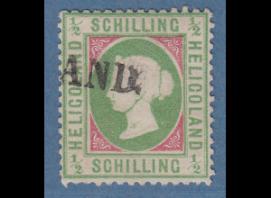 Helgoland 1873 1/2 S. Mi.-Nr. 6e gestempelt, Befund Heitmann BPP