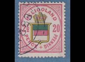 Helgoland 1882 20Pf Mi.-Nr. 18c gestempelt, Befund Heitmann BPP