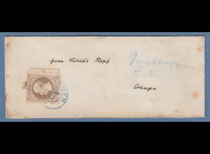 Hannover Mi.-Nr. 25y mit Randstück mit Reihenzähler 11 auf Brief aus Göttingen