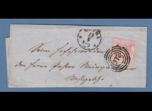 Thurn und Taxis 1Sgr. karminrot Mi.-Nr. 48 auf Brief von Gotha nach Alach