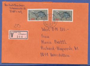 Bundesrepublik Fossilien 1978 200Pfg-Wert als portogerechte MEF auf Wertbrief