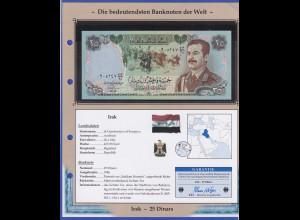 Irak 1986 Banknote 25 Dinars Saddam Hussein