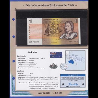 Australien 1983 Banknote 1 Dollar