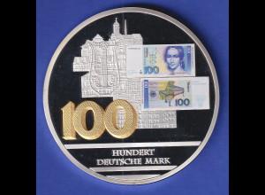 Riesen-Medaille 2013 Banknoten der Deutschen Mark - Hundert Deutsche Mark