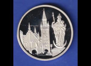 Medaille1997 München Stadtansichten - Marienplatz