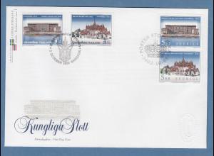 Thailand-Schweden Gemeinschaftsausgabe 2002 jew. Satz 2 W. auf FDC