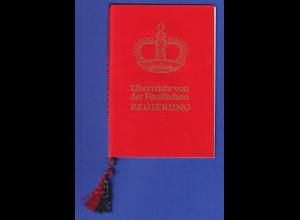 Liechtenstein 1957 Souvenir-Heft mit 7 Marken, Tagung für Altertumsforschung