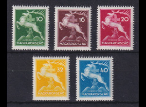 Ungarn 1933 Pfadfindertreffen Gödöllö Mi.-Nr. 511-515 postfrisch **