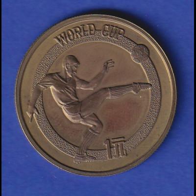 China 1982 Fußball WM 1982 in Spanien - Gedenkmünze 1 Yuan