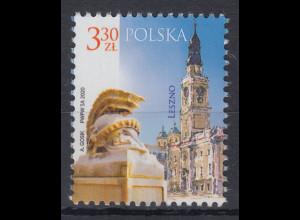 Polen / Polska 2020 Freimarke Städte: Leszno Rathaus, Denkmal Mi.-Nr. 5181 **