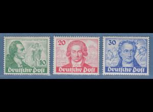 Berlin 1949 Goethe Mi-Nr. 61-63 Satz komplett **, ANSEHEN