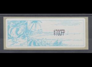 Neukaledonien ATM mit schwarzem Werteindruck *70CFP, Mi.-Nr. 1.1e