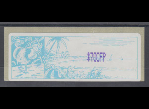 Neukaledonien ATM mit violettem Werteindruck *70CFP, Mi.-Nr. 1.1f **