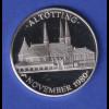 Silbermedaille 1980 Papst Johannes Paul II. - Altötting 15g Ag1000