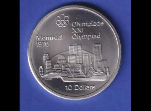 Silbermünze Kanada 1973 Olympiade Montreal 10 Dollar Stadtansicht 49g Ag925