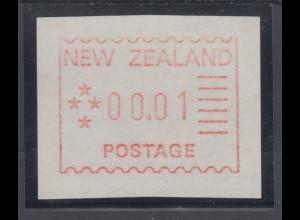 Neuseeland Frama-ATM 1. Ausgabe 1984, Einzelwert 00,01 , Mi.-Nr. 1 **