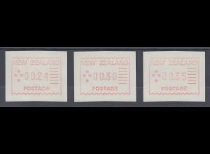 Neuseeland Frama-ATM 1. Ausgabe 1984, Tastensatz 3 Werte 24-30-35 , Mi.-Nr. 1 **