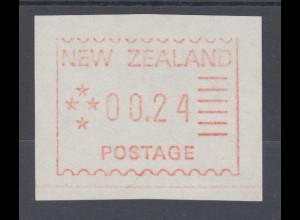 Neuseeland Frama-ATM 1. Ausgabe 1984, Mi.-Nr. 1 , Porto-Wertstufe 00,24 **